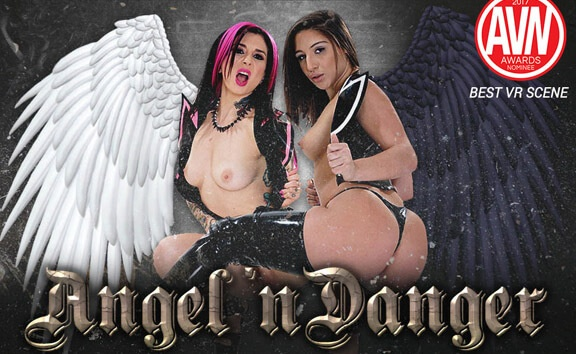 Angel 'n Danger - FFM Threesome with Goth Girls Joanna Angel, Abella Danger