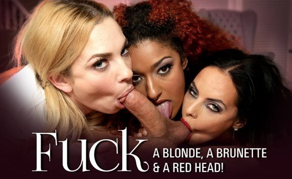 Fuck a Blonde, a Brunette & a Red Head Dahlia Sky, Brandy Aniston, Daisy Ducati