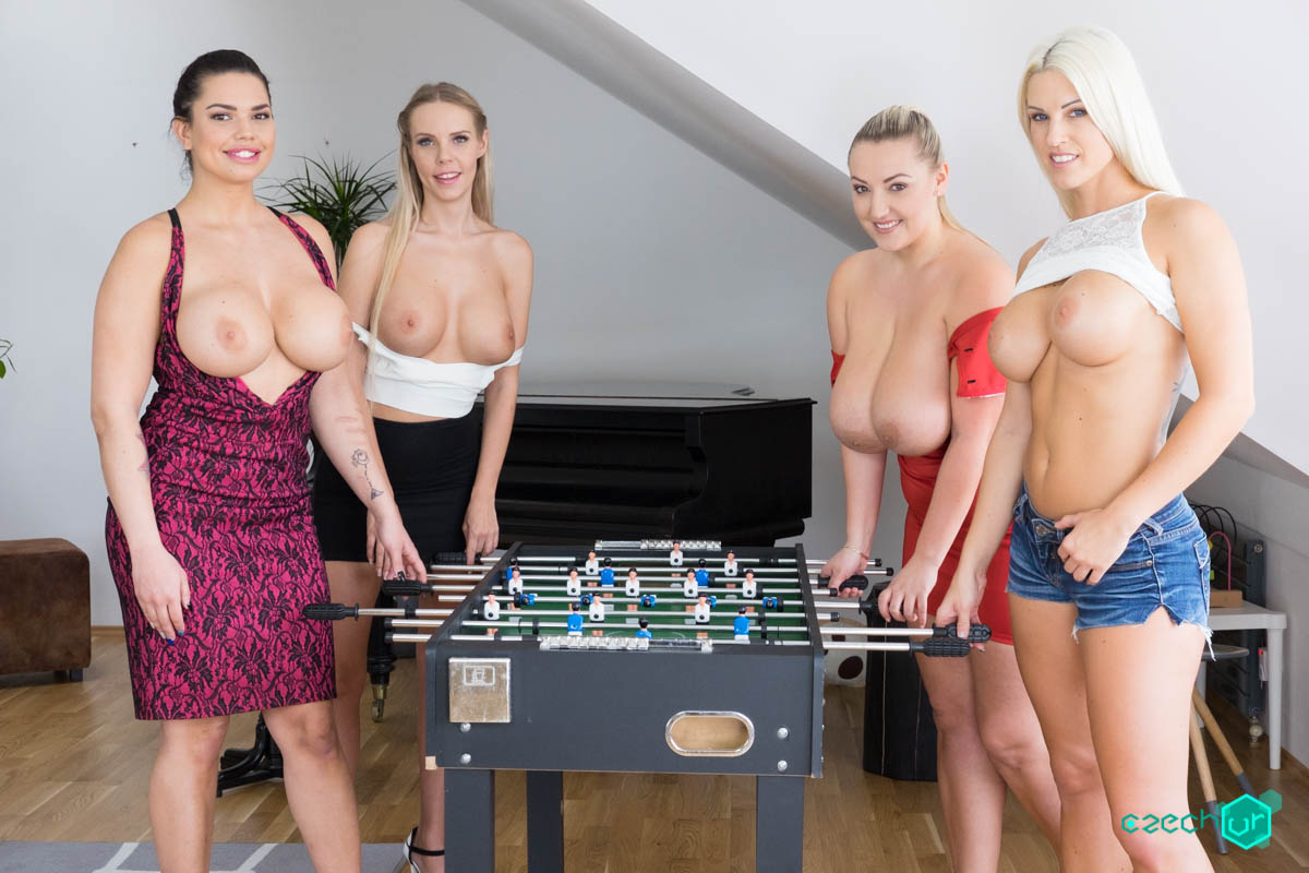 Czech VR 270 - Fivesome with Huge Tits Chloe Lamour, Crystal Swift, Florane Russell, Blanche Bradburry