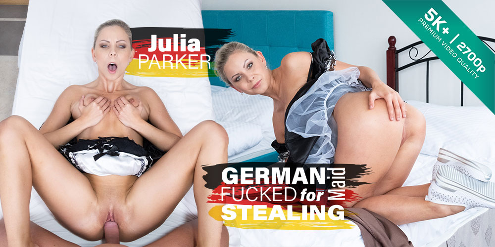Czech VR 282 - German Maid Fucked for Stealing Julia Parker