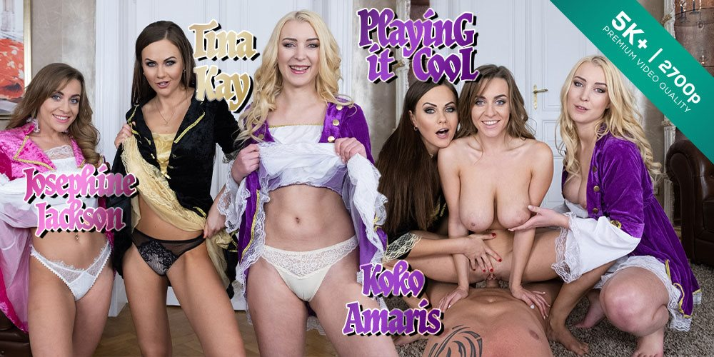Czech VR 319 - Playing it Cool Josephine Jackson, Koko Amaris, Tina Kay