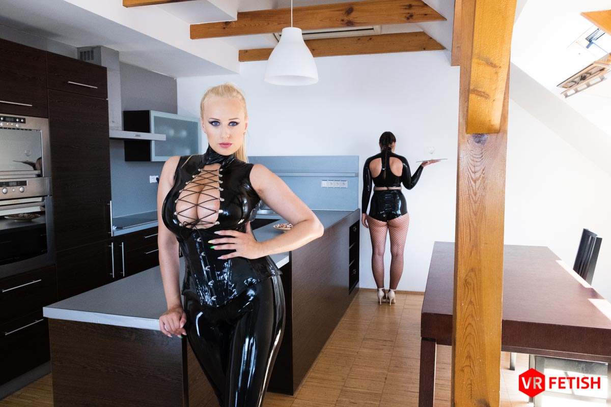 Czech VR Fetish 194 - Endowed Mistress with Busty Slave Sofia Lee, Angel Wicky