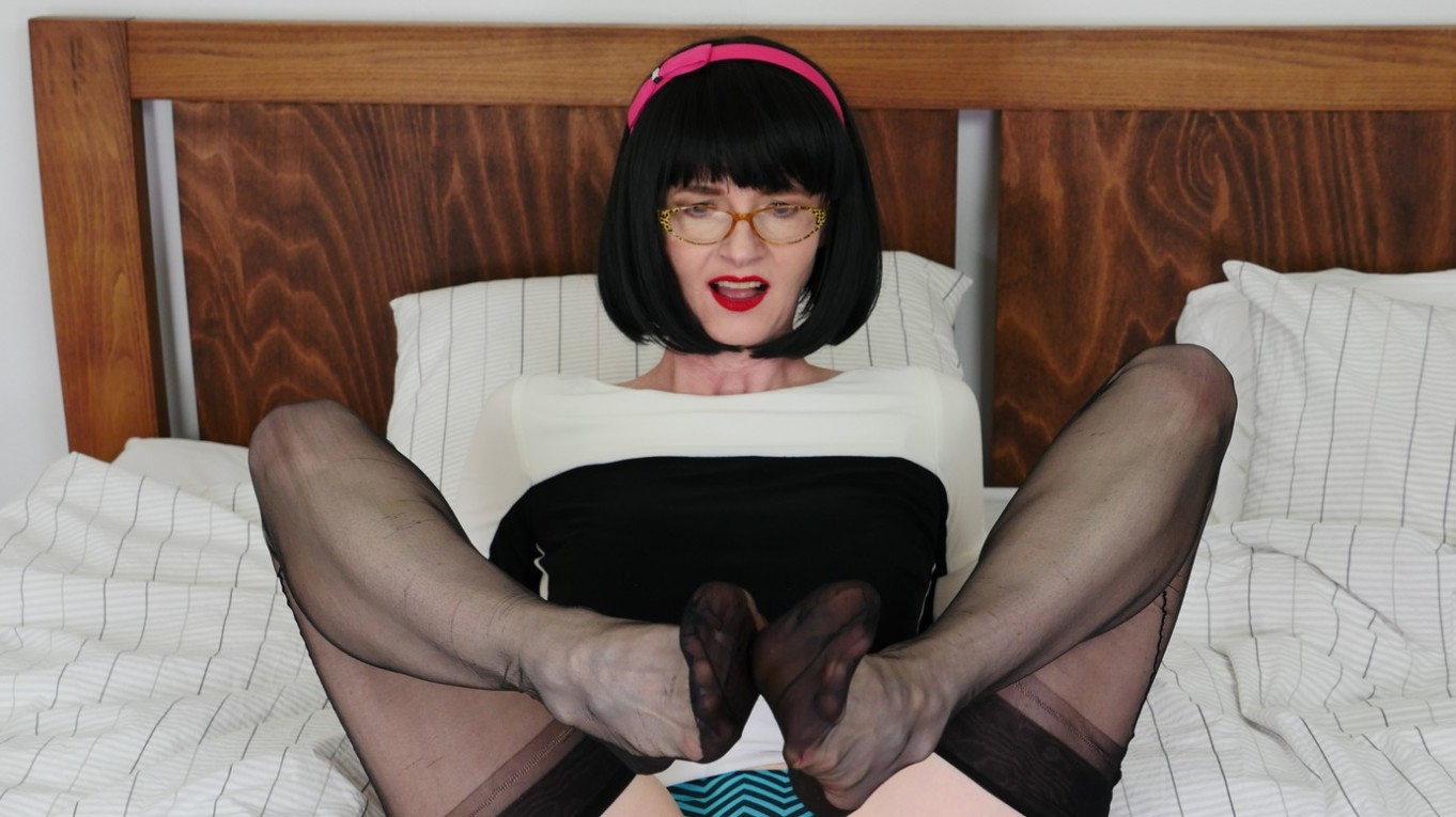 Are You Ready To Play? - Solo Model in Nylons and Lingerie Naughty Julia