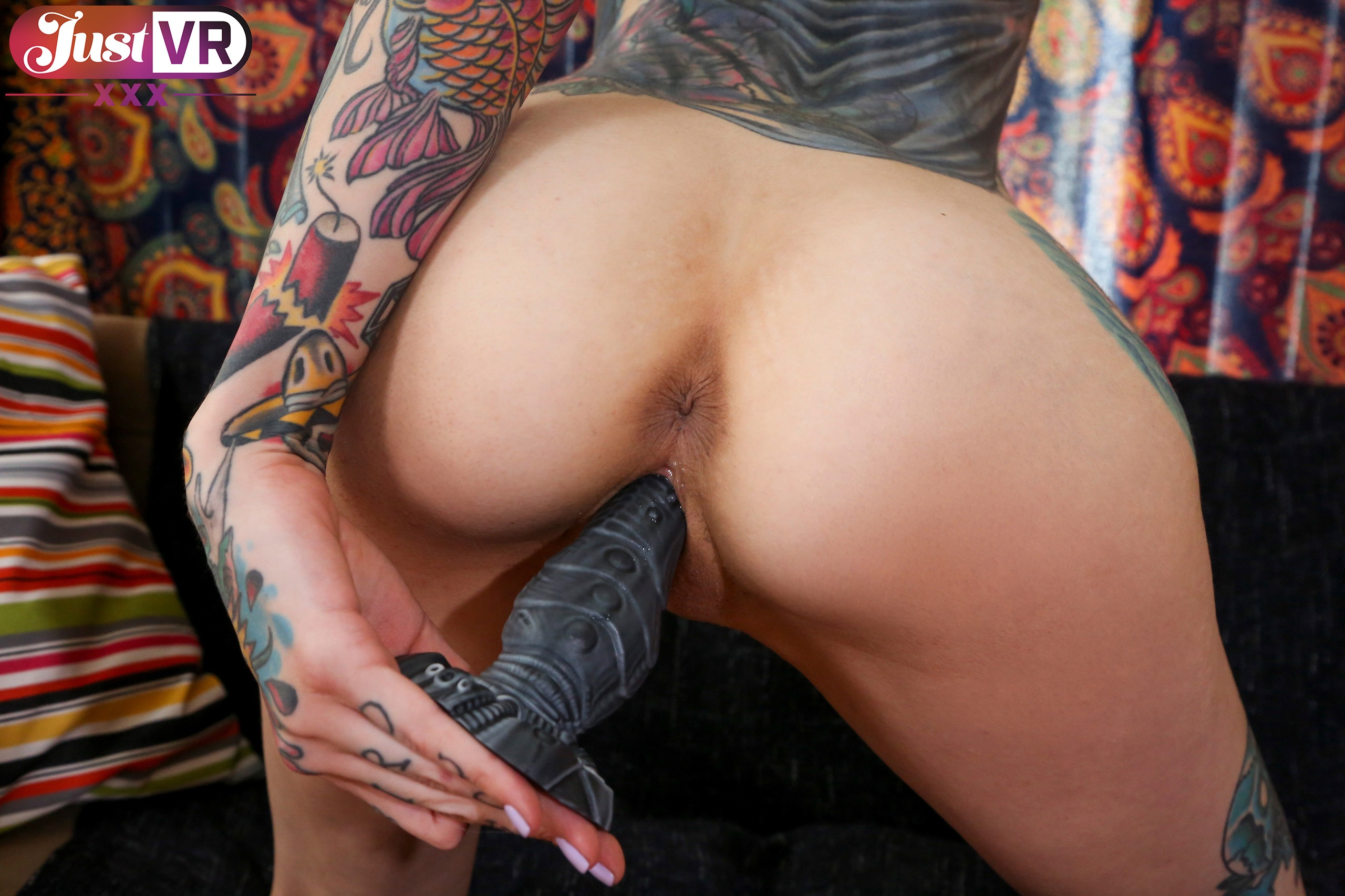 Deep Throat Toy Queen - Tattooed Solo Model Toying Rocky Emerson