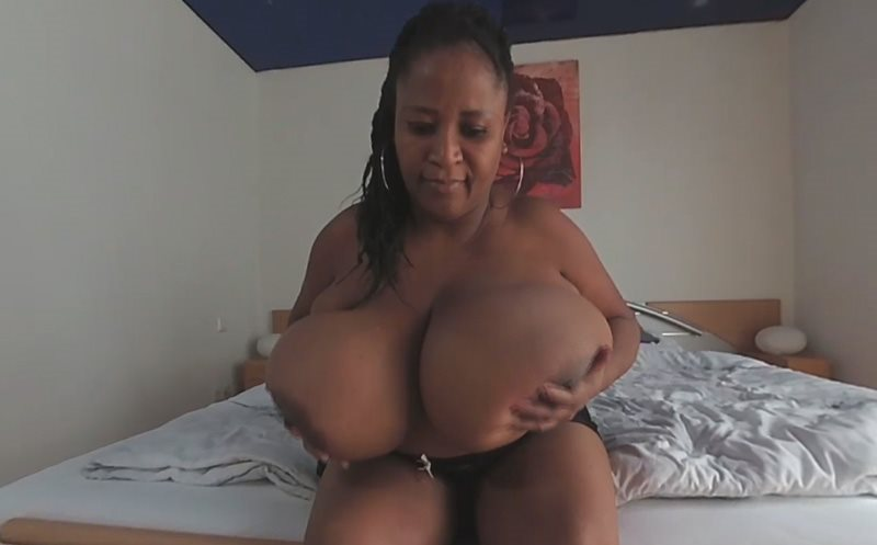 Pam in a Hot Black Lingerie Busty Pam