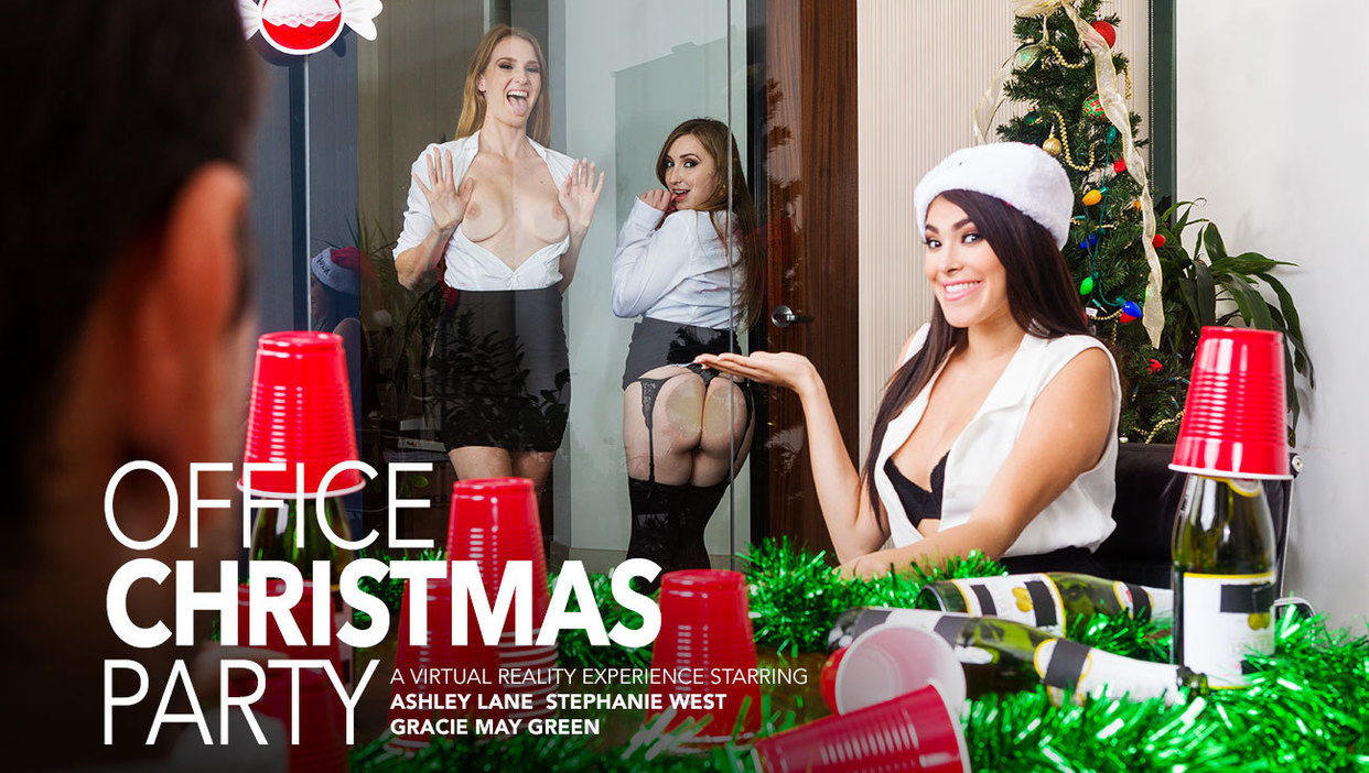 Three Girls Fuck You After The Holiday Party Ryan Driller, Ashley Lane, Gracie Green, Stephanie West
