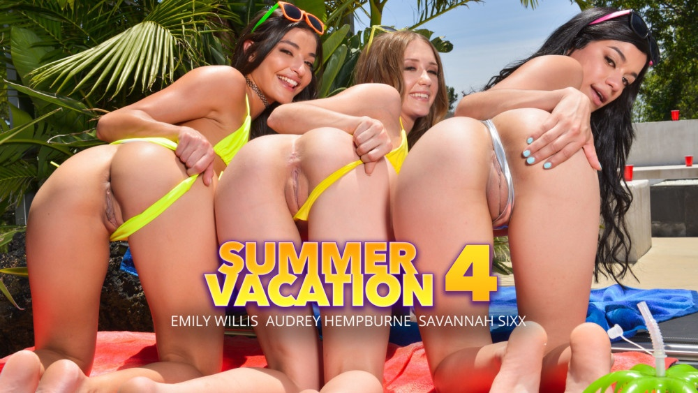 Summer time fuckin fun Emily Willis, Savannah Sixx, Audrey Hempburne, Bambino