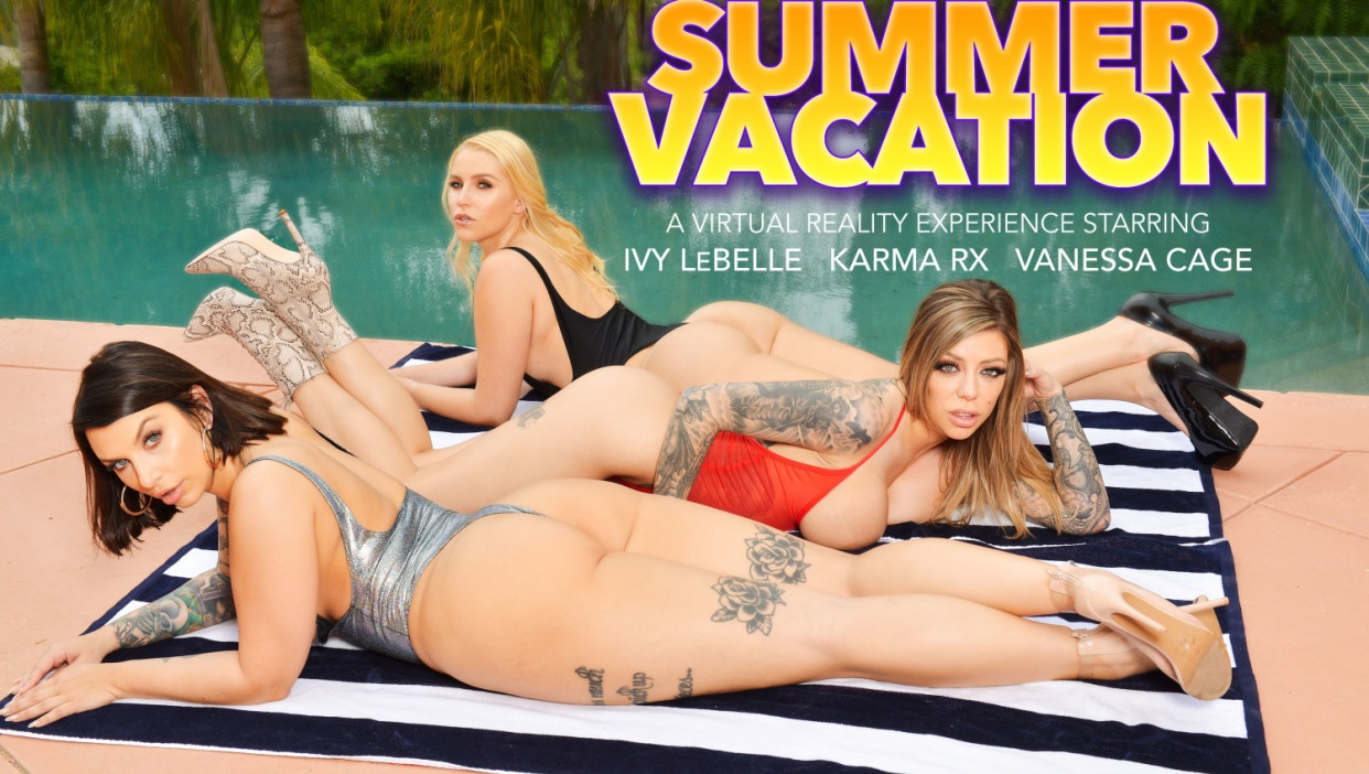 Married babes take advantage of the Neighbor while on Vacation Karma Rx, Ivy LeBelle, Ryan Driller, Vanessa Cage
