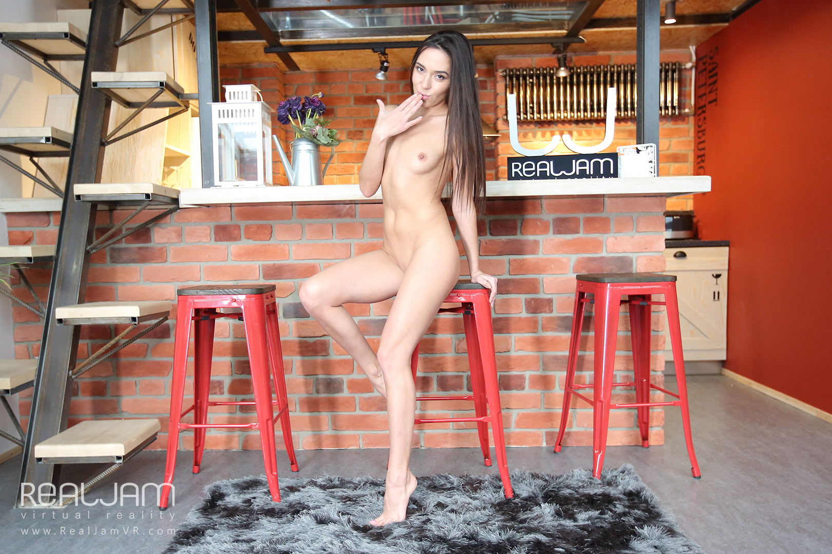 Fun At The Bar - Brunette Fingers in Public Kerry Cherry