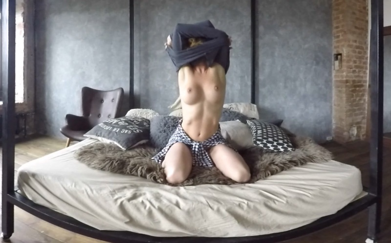 Fit Brunette Sexy Striptease - Fit, Busty Blonde Strips OseeQ