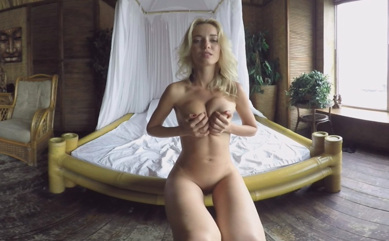 Flawless Blonde Does Sexy Striptease - Athletic Shaved Solo Model MonroQ