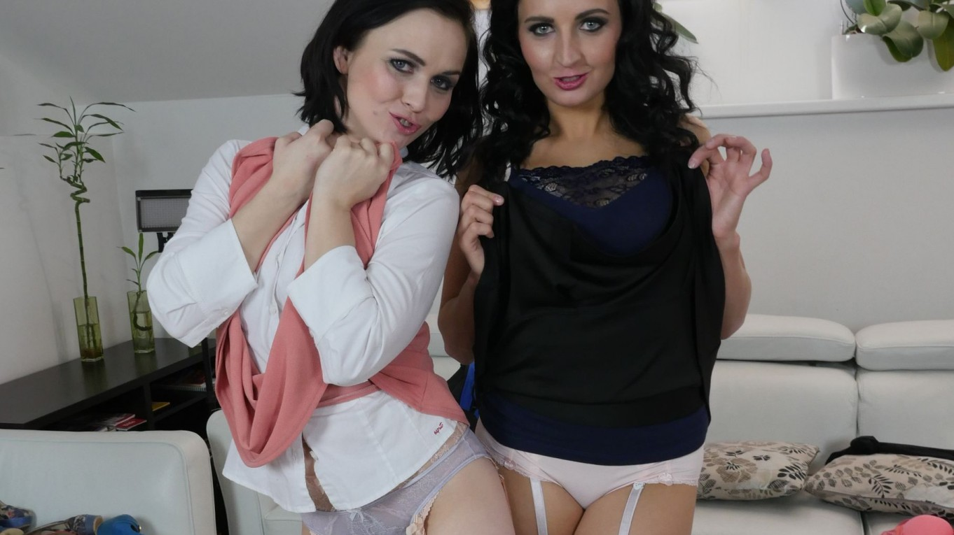 Do Not Disturb, Girls at Play - Lesbians in Stockings Fingering Asdis Loren, Ally Breelsen
