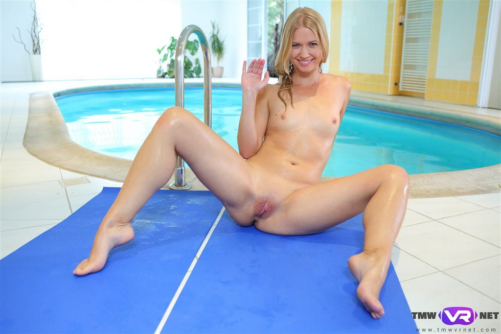 Blonde Hottie Violette Pure Swims and Fingers Herself Violette Pure