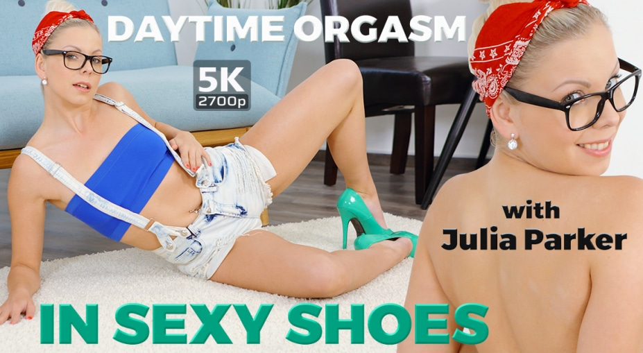 Daytime orgasm in sexy shoes Julia Parker