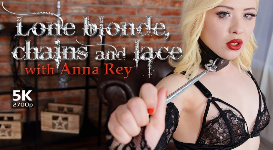 Lone blonde, chains and lace Anna Rey