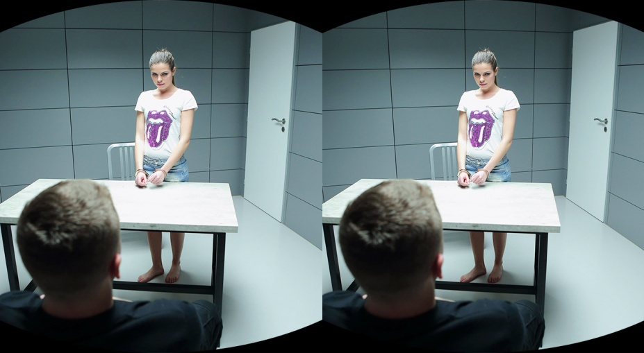 Sexy Blonde is Fucked in an Interrogation Room Sarah Smith