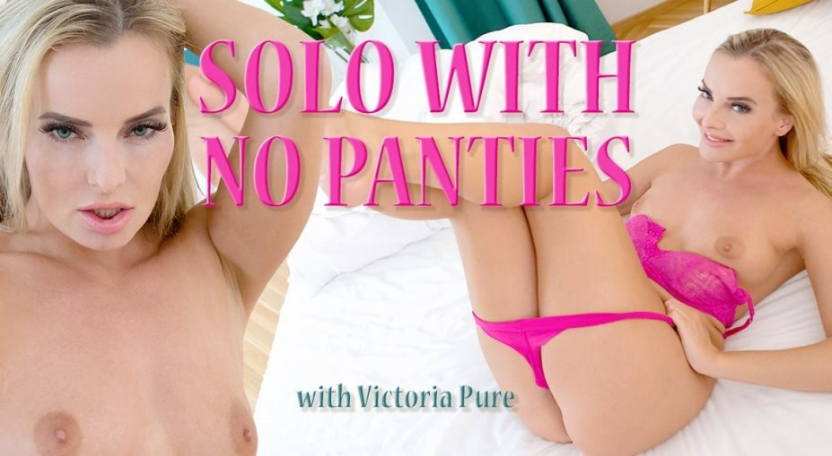 Solo with no panties Victoria Pure