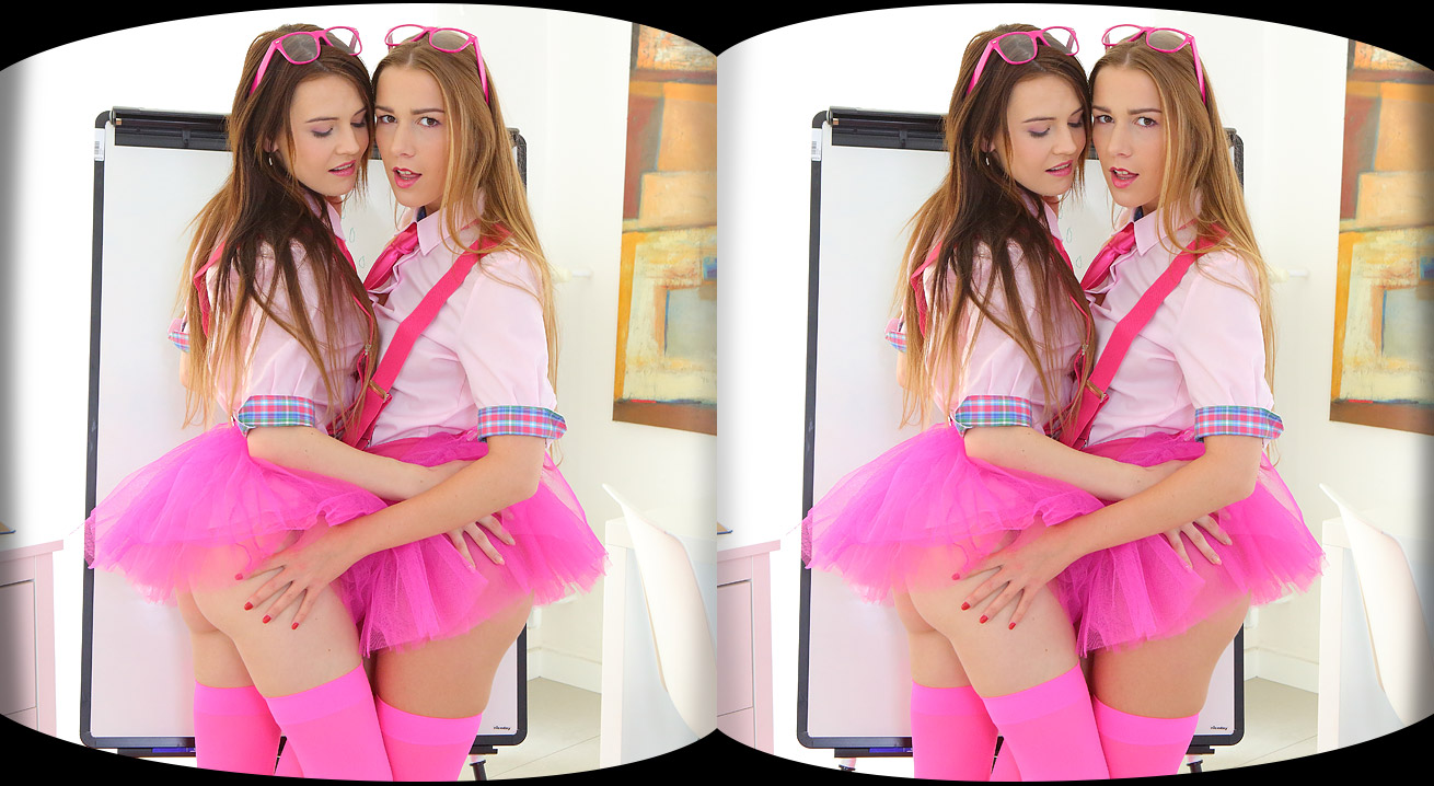 VR Horny Babes Never Bored Timea Bella, Alexis Crystal
