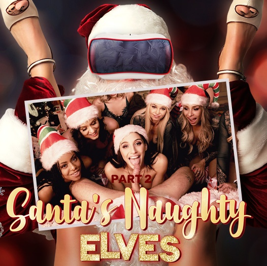 Santa's Naughty Elves (Part 2) Allie Nicole, Carmen Caliente, Kira Noir, Alex More, Abella Danger, Astrid Star, Xandra Sixx, Milana May