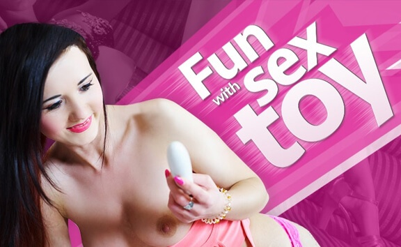 Fun with Sex Toy - Slim Brunette Toying Shaved Pussy FantAsia