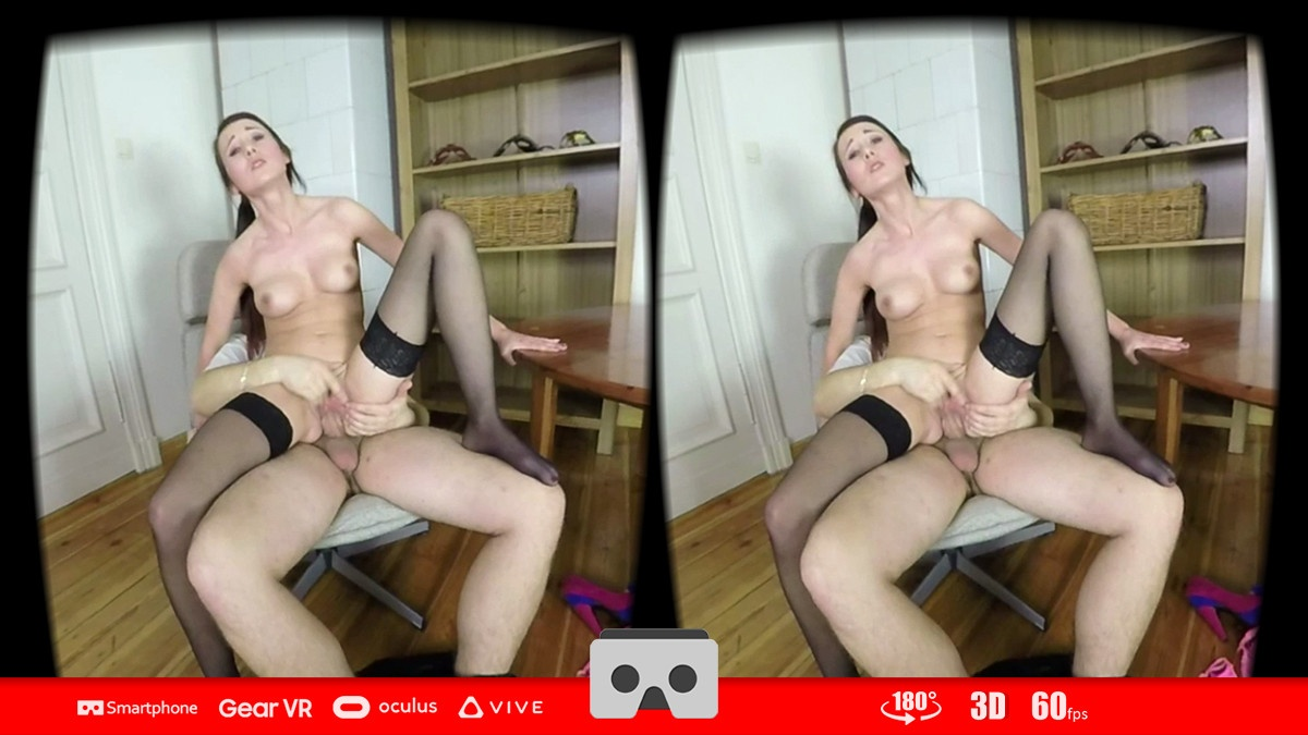 Looking for Your Cock - Petite Brunette Riding Cowgirl Style FantAsia