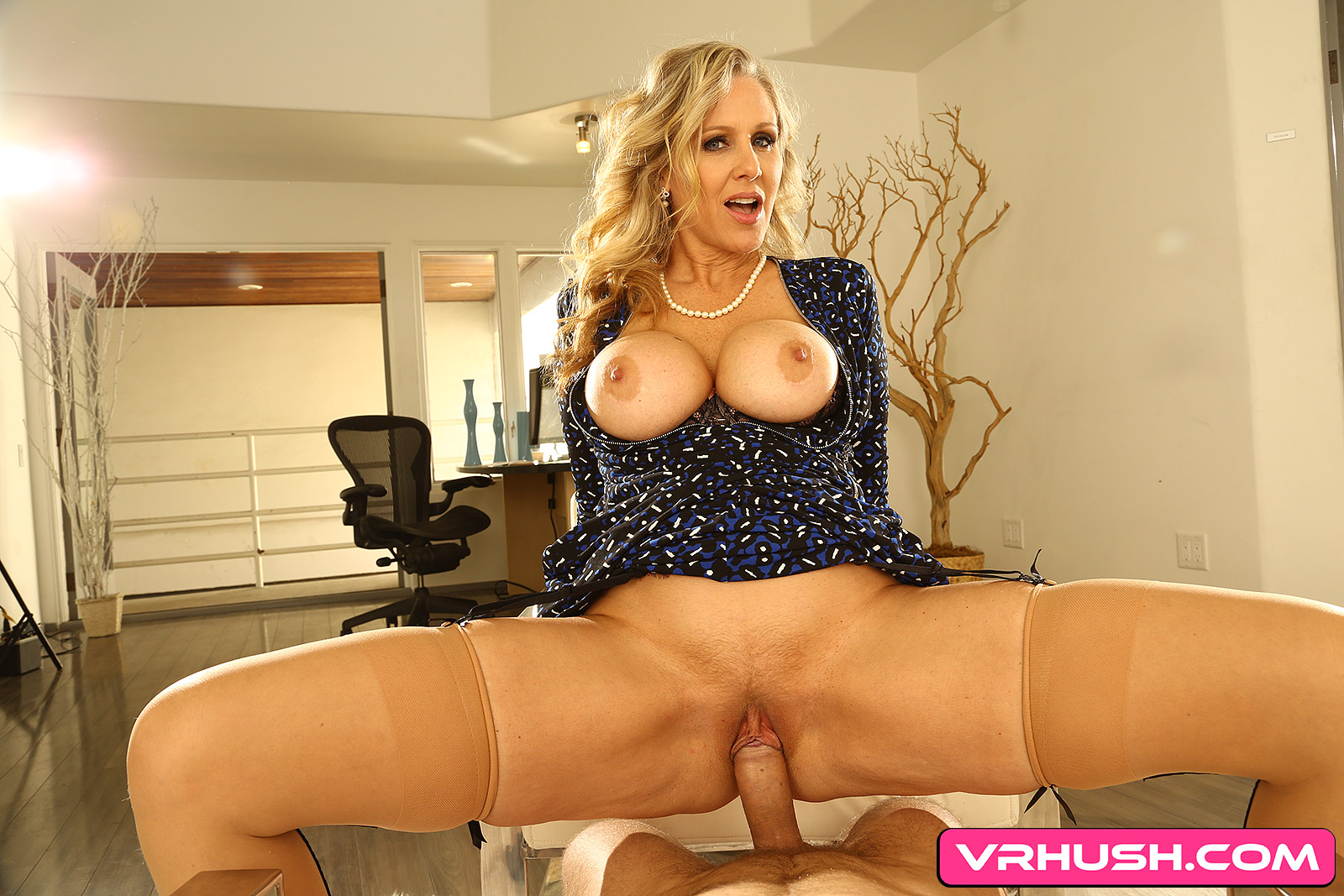 Blonde Milf Showing You the Way - Busty Cougar Rides Dick Julia Ann