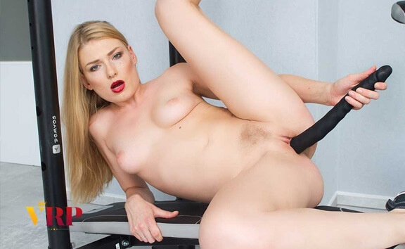 Dirty Workout - Petite Blonde Exercise Toying Lucy Heart
