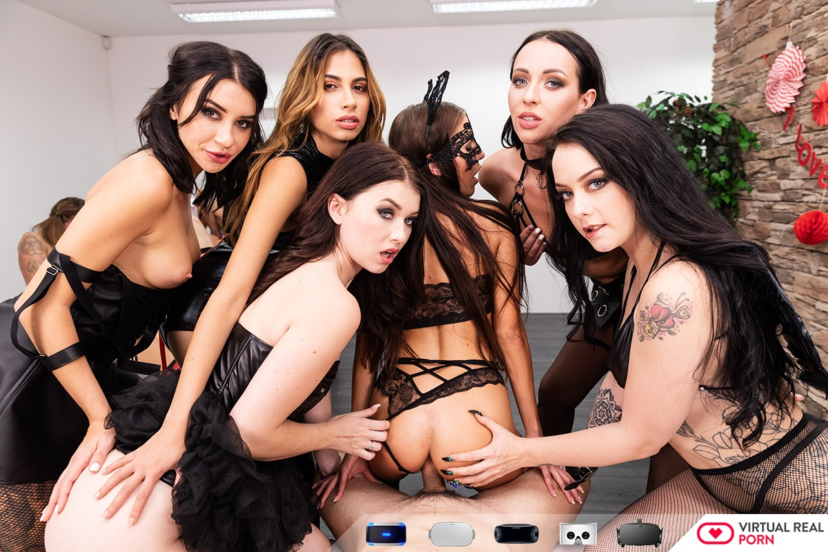 12 Girls of Christmas: Black Team Eveline Dellai, Misha Cross, Karolina Star, Alessa Savage, Katrin Tequila, Baby Nicols