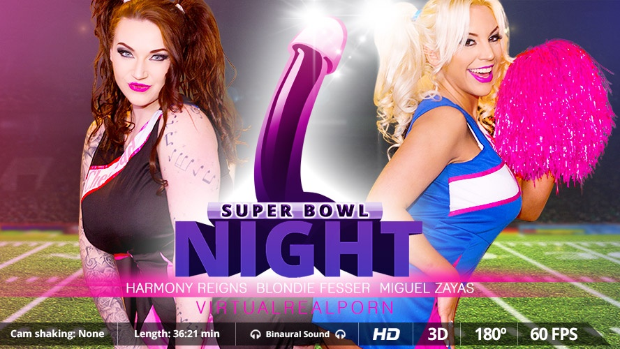 Super Bowl night Blondie Fesser, Miguel Zayas, Harmony Reigns