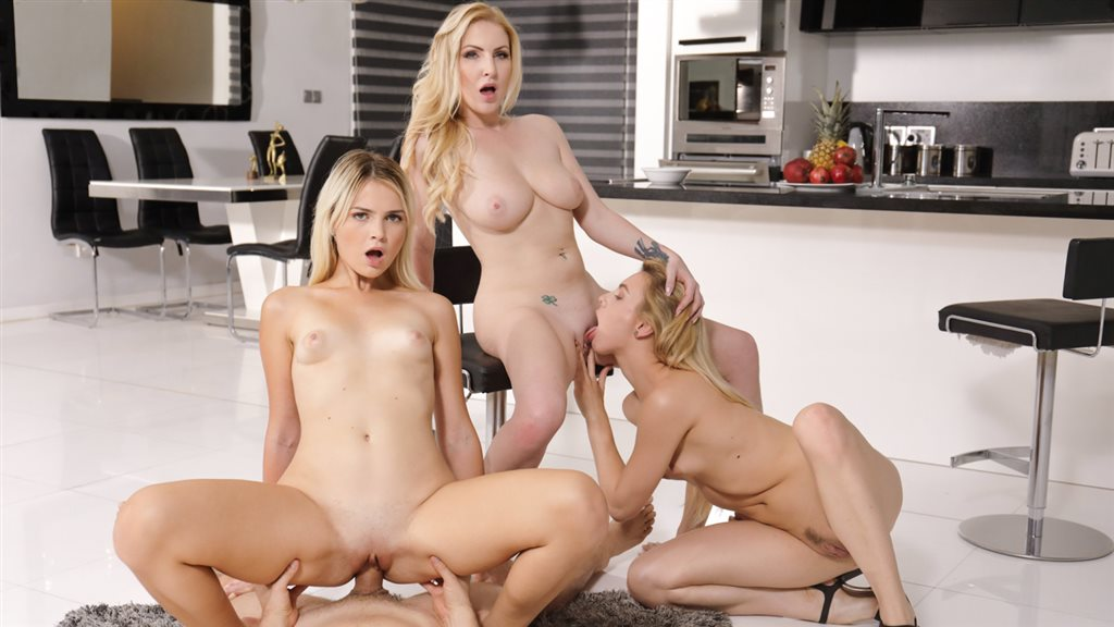Family Foursome Is Awesome! Georgie Lyall, Alecia Fox, Masha