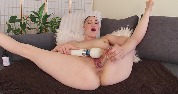 Iris Ives Multiple Orgasmic Squirter  - Bald Amateur Toying Iris Ives