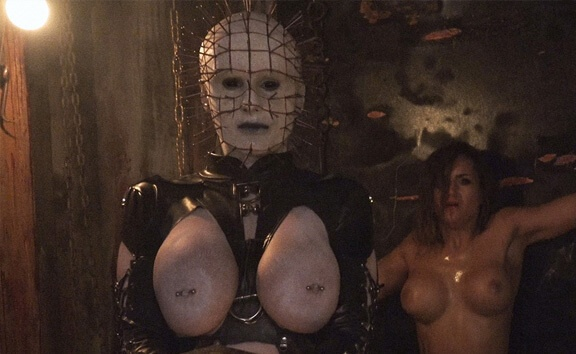 Pinhead - Busty Cosplay Threesome Horror Barbara Bieber, Angel Wicky